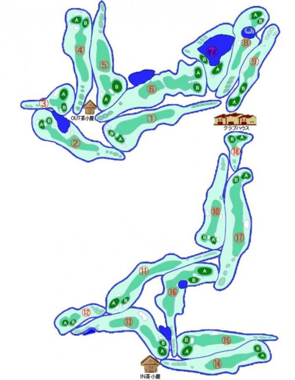 熊本南カントリークラブ全体図