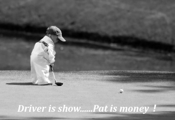 Driver is show…Pat is money!
